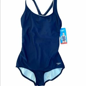 🩱 Speedo Navy Blue M Bathing Suit NWT